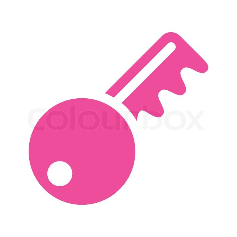 icon key pink stock vector colourbox