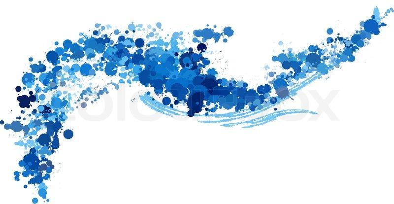 Fresh Blue Water Splash Vector