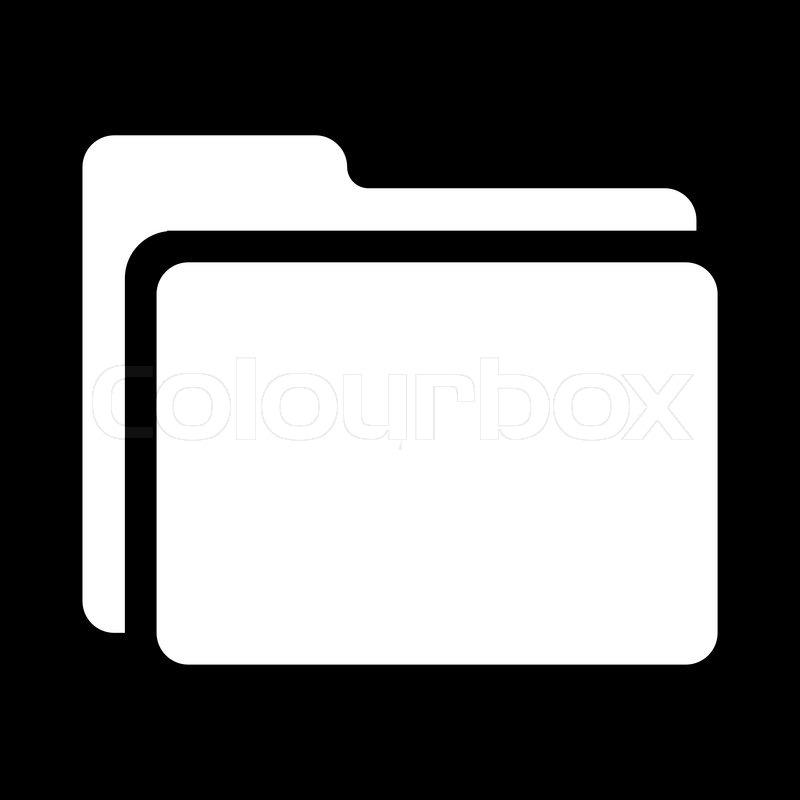 Icon - folder - black white | Stock Vector | Colourbox