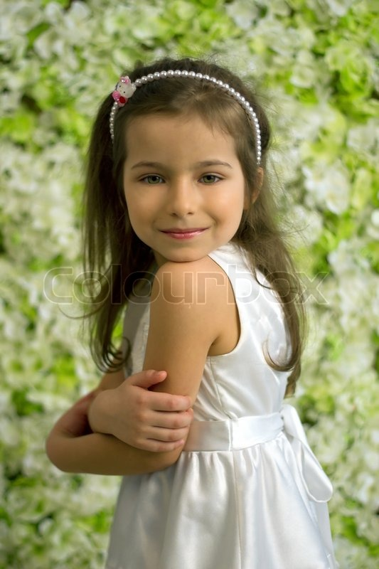 Year Old Girl Hairstyles http://www.colourbox.com/image/portrait-of ...