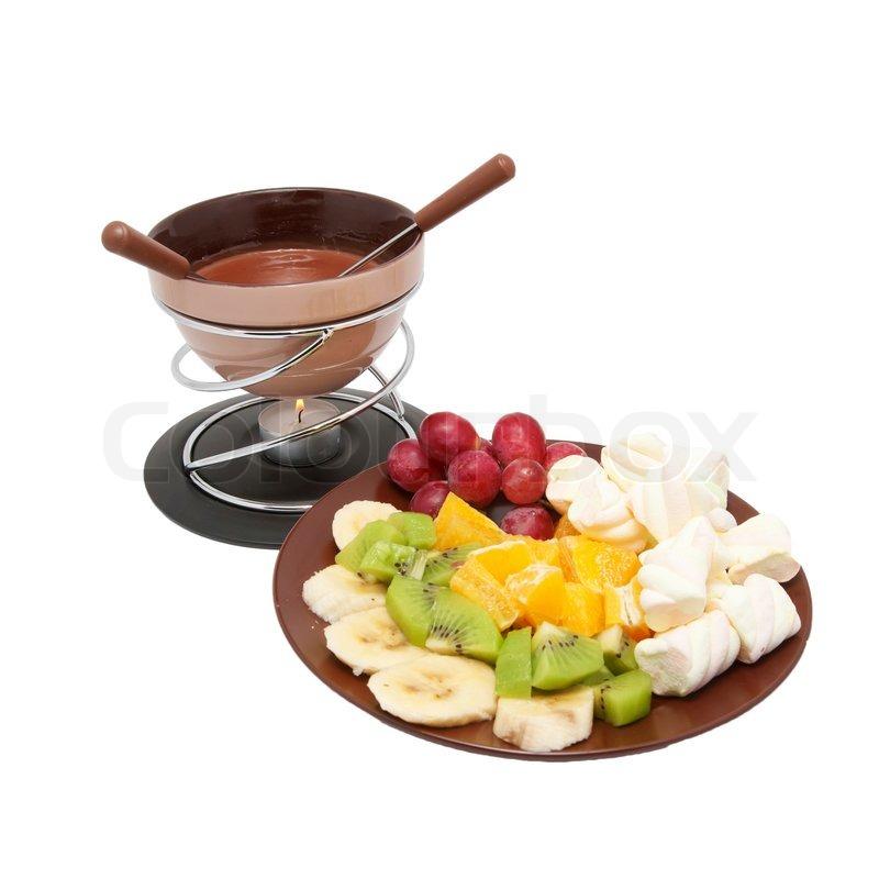 fondue chokolade