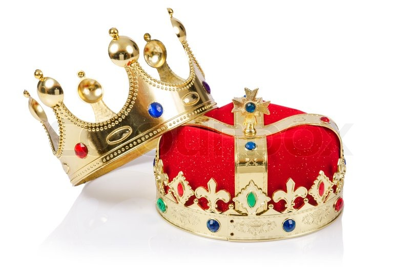 King Crown Isolated On White Stock Image Colourbox