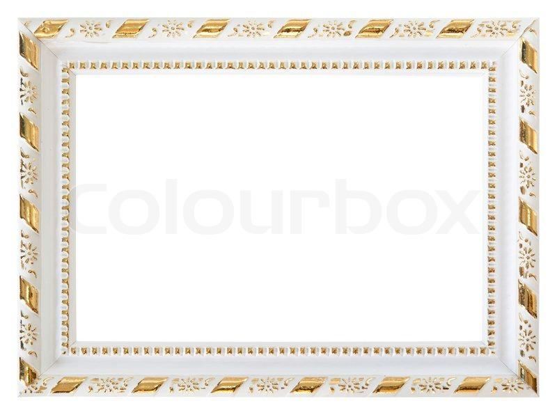 Gold Wood White Frame Stock Photo Colourbox