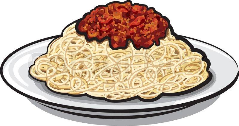 Spaghetti with sauce | Vector | Colourbox
