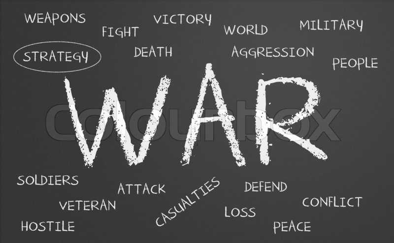 War word cloud | Stock Photo | Colourbox
