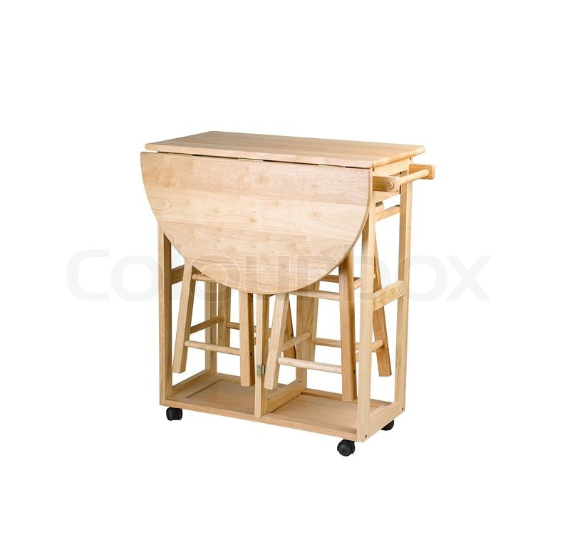 Compact Kitchen Island With Stools