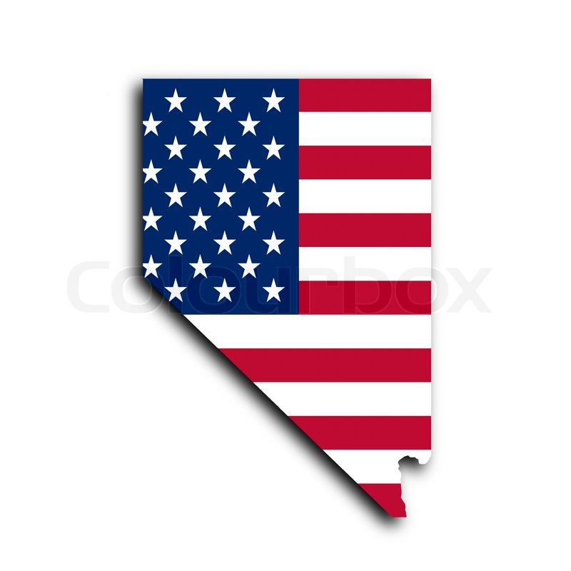 Kort Over Nevada Stock Foto Colourbox