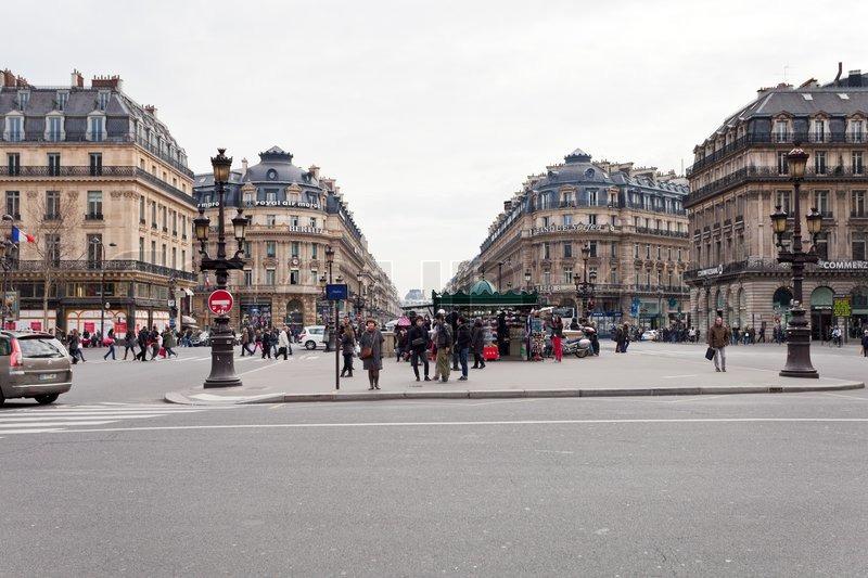 place de l 39 opera opera square in paris stock photo colourbox. Black Bedroom Furniture Sets. Home Design Ideas