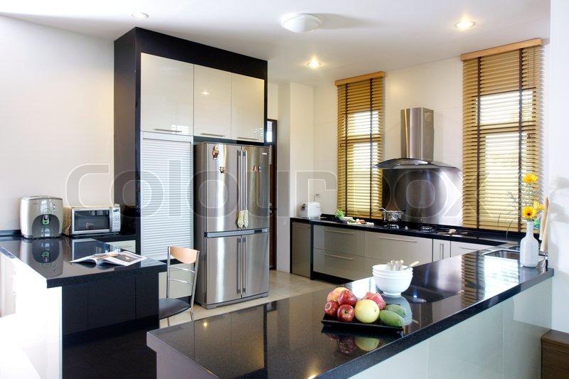 Ktichen interior design arkitektur stock billeder, fotos af stue ...