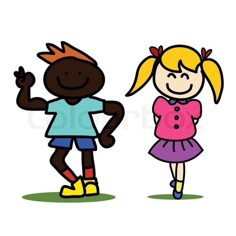 hand drawing cartoon kids - Cartoon Kids Drawing