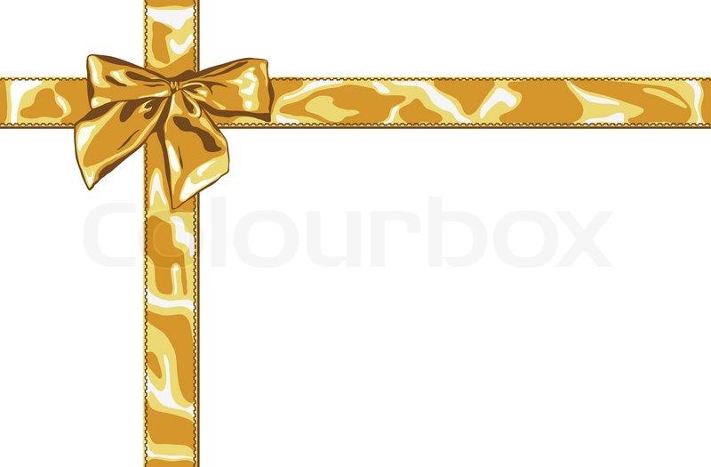 gold gift bow stock vector colourbox