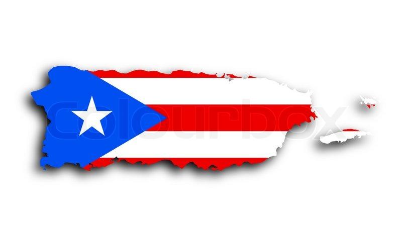 Kort Over Puerto Rico Stock Foto Colourbox