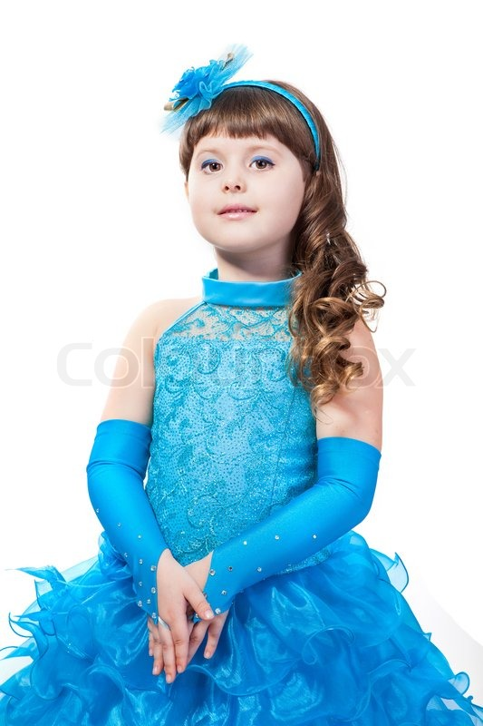Portrait of cute smiling little girl in princess dress for Small princess