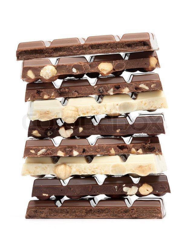 Stock Bild Von U0027Isolierte Schokolade Turmu0027