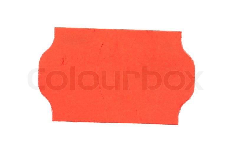 Red Preisschild Leer Isoliert Auf Stock Bild Colourbox