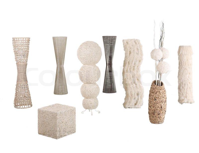 Modernes Design aus Rattan , Bambus und Wasserhyazinthe Stehleuchten ...