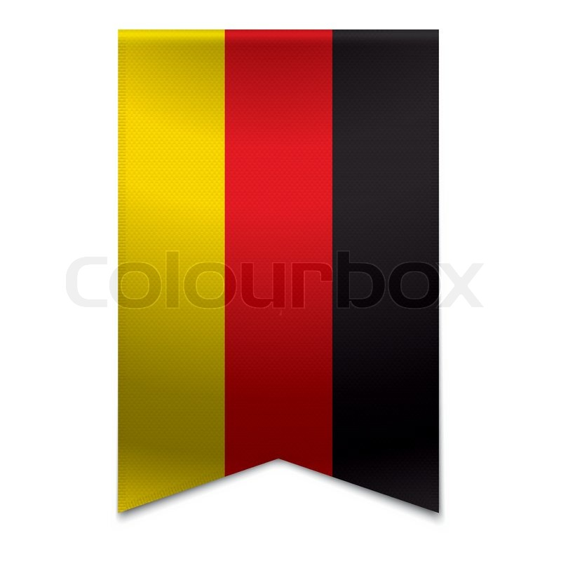 ribbon banner german flag stock vector colourbox