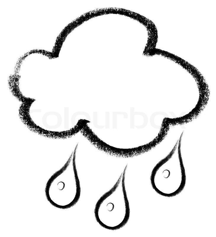 Regenwolke Icon Stockfoto Colourbox
