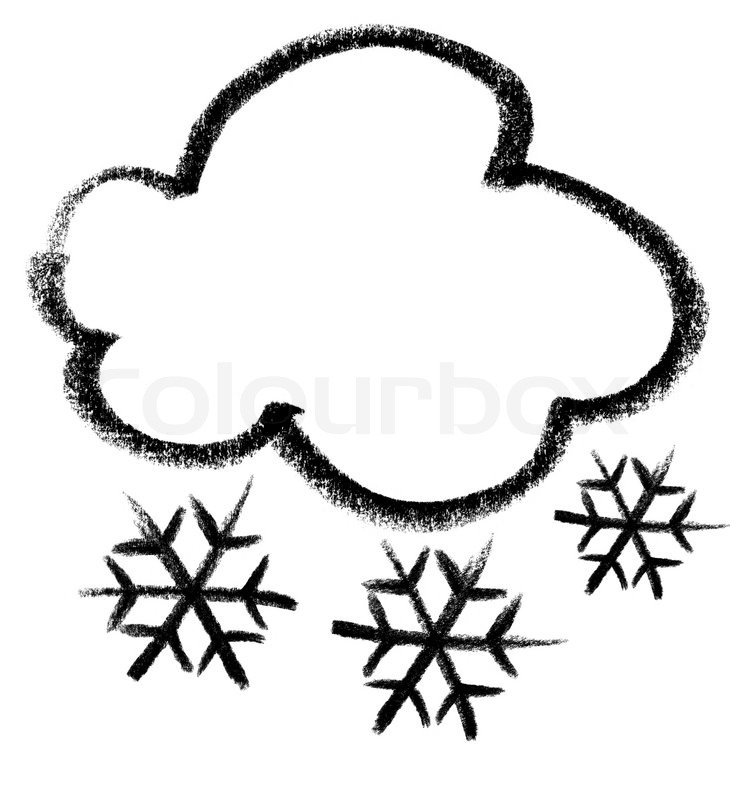 Schnee Cloud Icon Stockfoto Colourbox