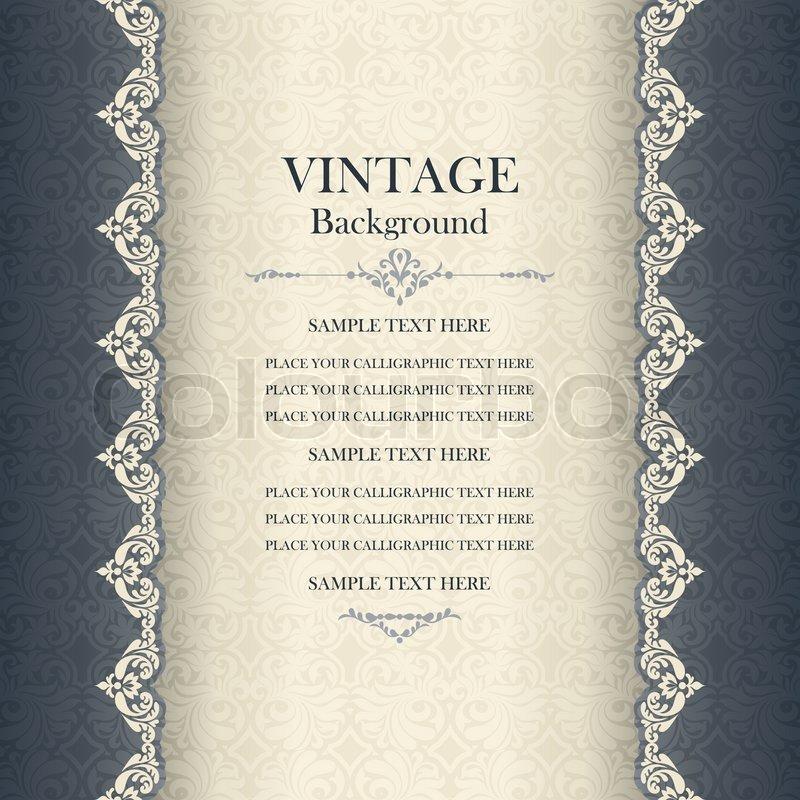 vintage background , antike grußkarte, einladung mit spitze und, Einladung
