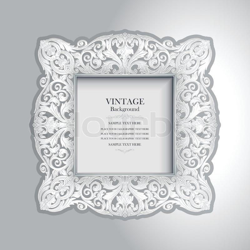 Jahrgang dekorativen weißen Rahmen , Luxus Bilderrahmen an der Wand ...