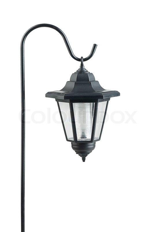 h ngende solcelle lampe for at gemme el stock foto colourbox. Black Bedroom Furniture Sets. Home Design Ideas