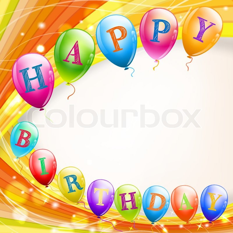 happy birthday background with balloons stock vector colourbox