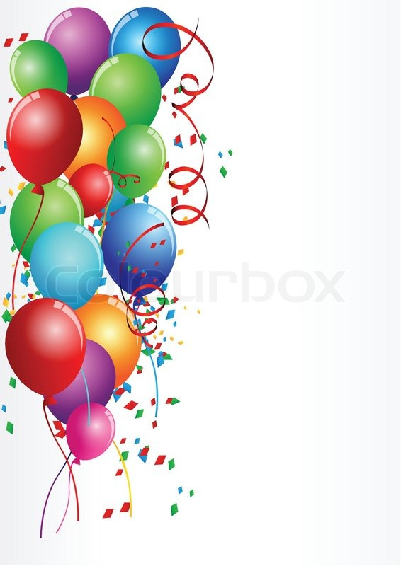 Vector illustration of birthday celebration party stock