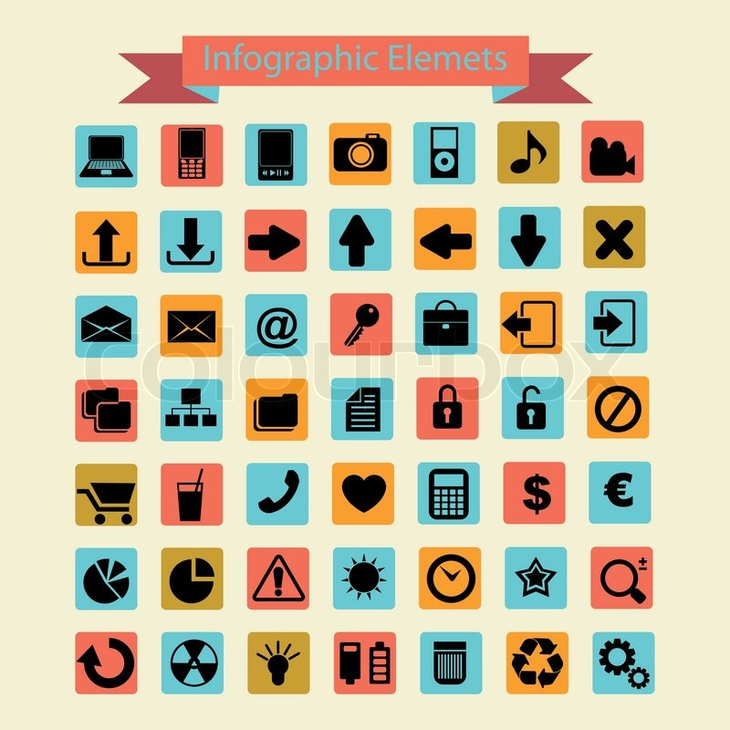 Infographic icons vector