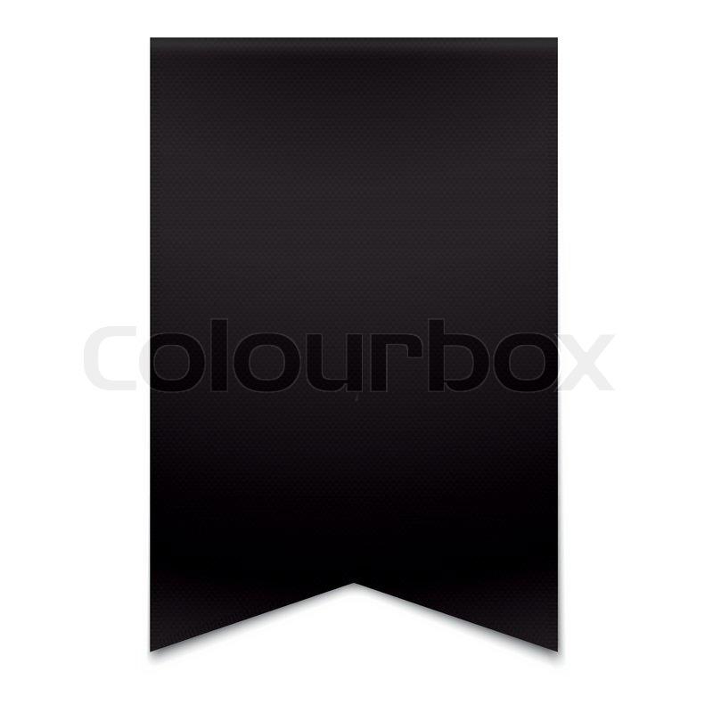 Black ribbon banner | Stock Vector | Colourbox
