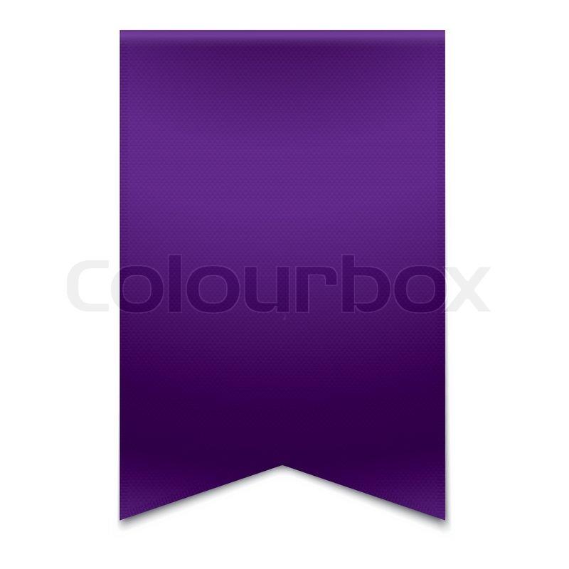 purple ribbon banner stock vector colourbox