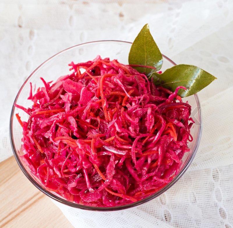 Рецепт салата с капусты и свеклы