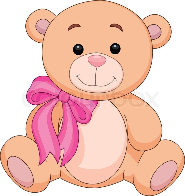 Cute cartoon brown bear