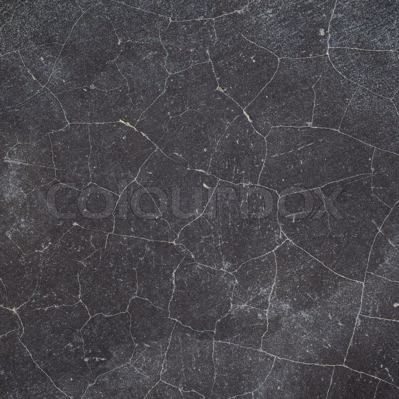 Cracked Black Concrete Wall Floor Texture Background