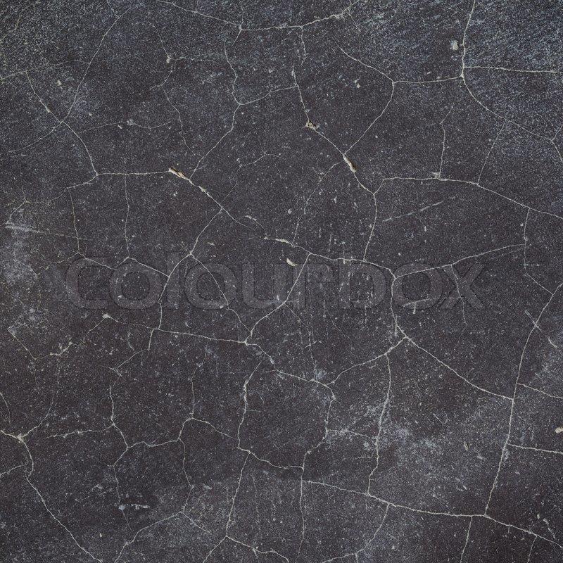 Cracked Black Concrete Wall Floor Texture Background