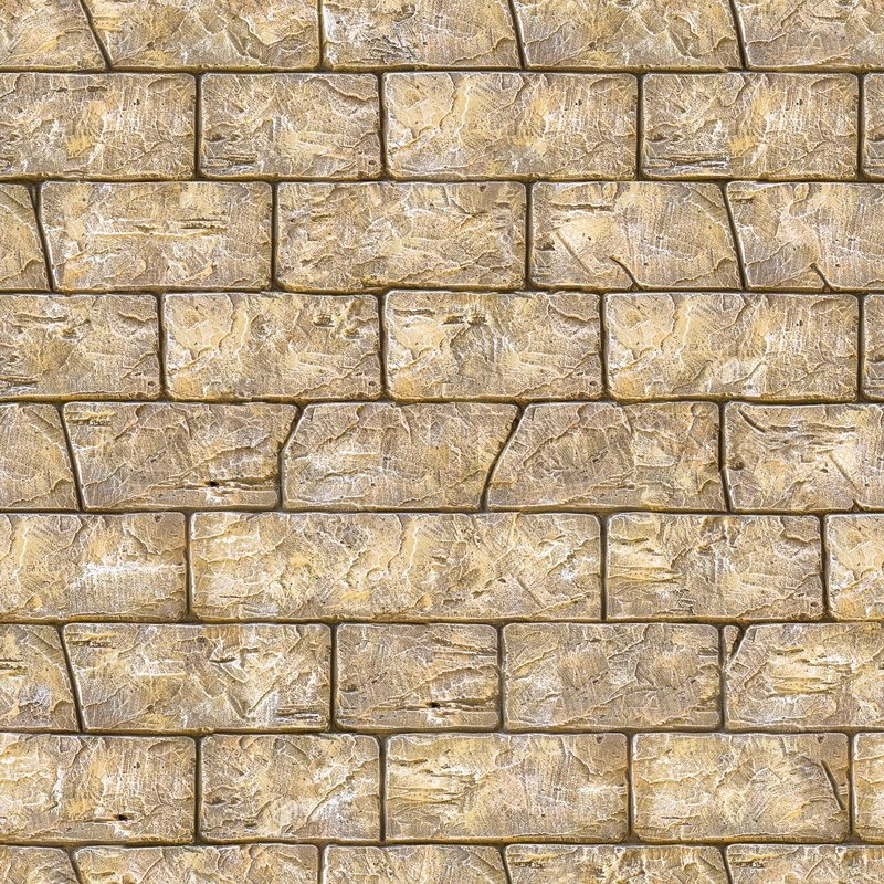 Seamless Texture Of Brown Decorative Bricks Wall Stock