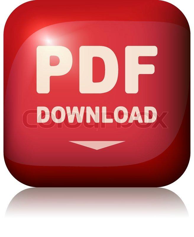 Pdf Download Button Stock Illustration: Pdf Download Button Vector Illustration