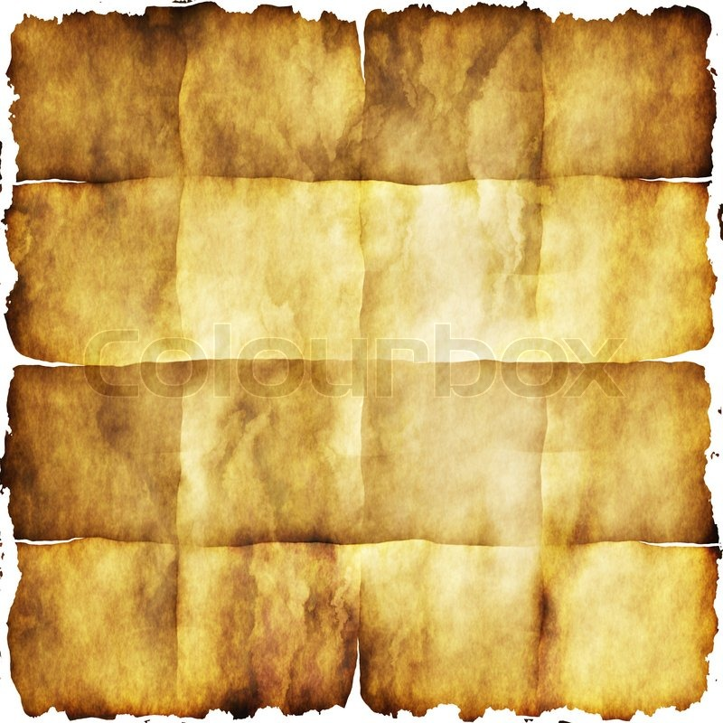 Old Grunge Paper Texture With Dark Burn Edges Background