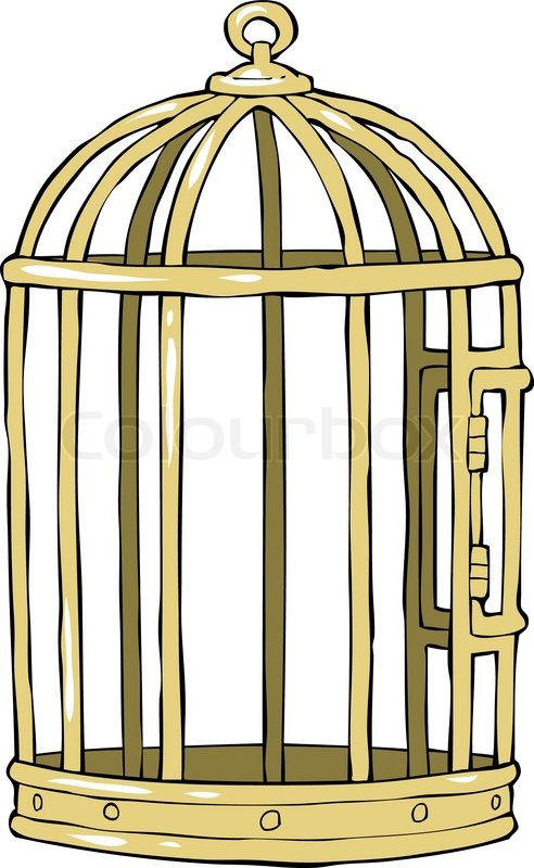 bird cage on a white background vector illustration stock vector