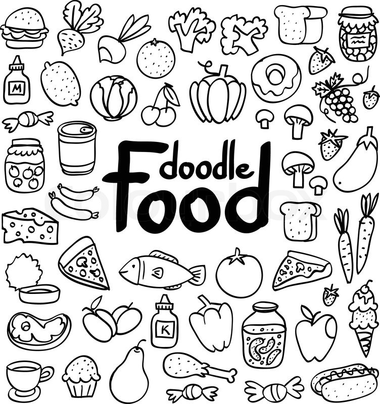 Gallery For gt Cute Food Doodles
