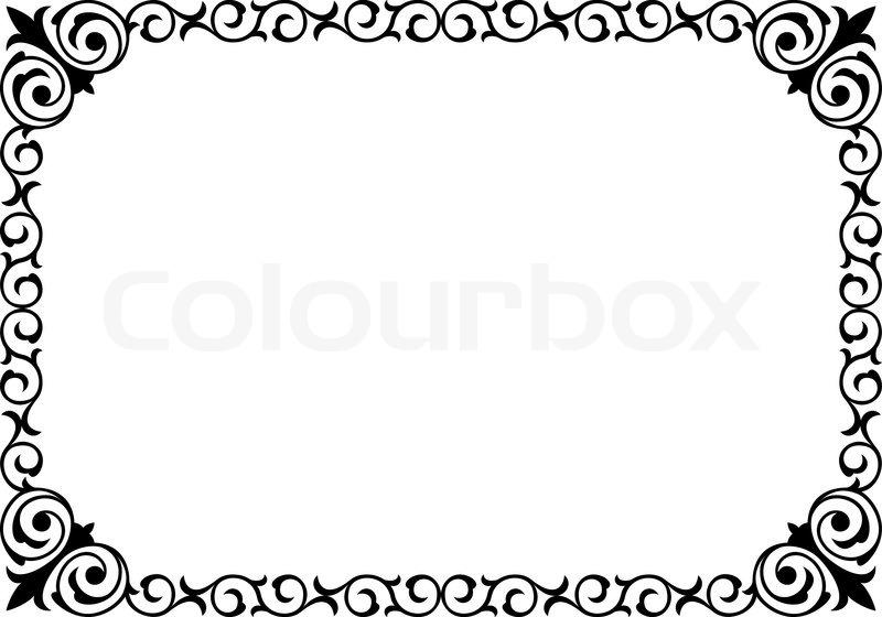 kalligrafie handschrift geschweiften vektorgrafik colourbox. Black Bedroom Furniture Sets. Home Design Ideas