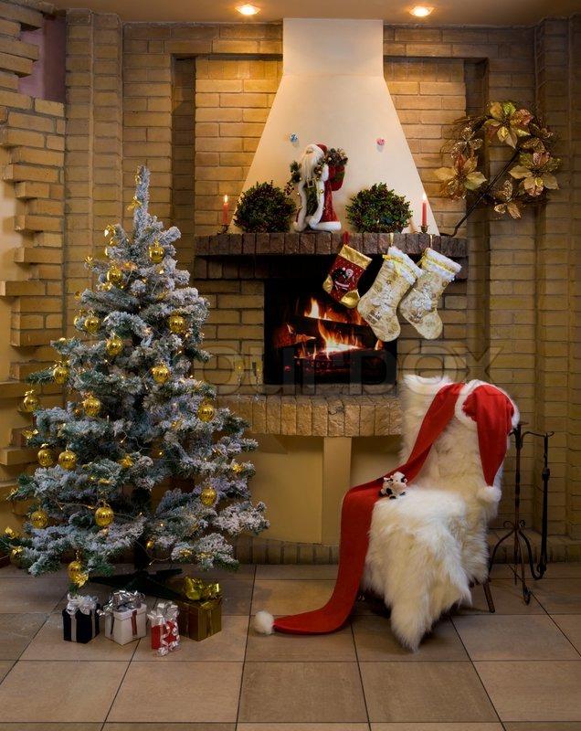 Weihnachtszimmer   Stockfoto   Colourbox