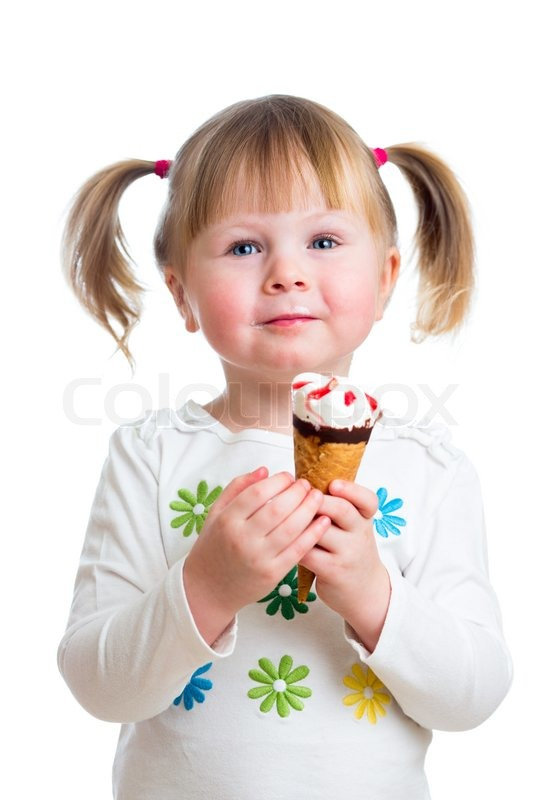 Girl eating ice cream simply magnificent