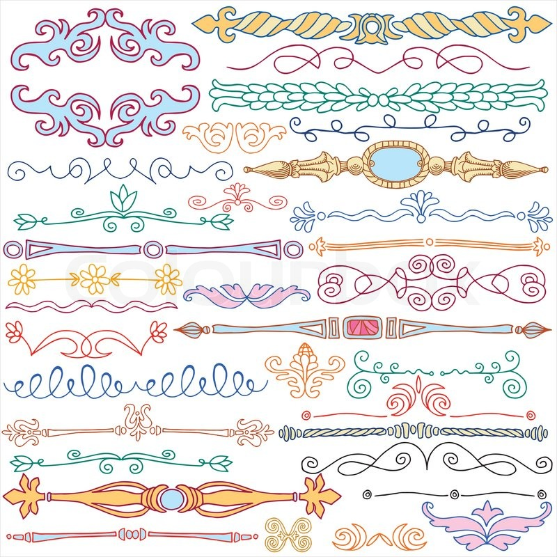 ... old patterns template for design, page decoration | Vector | Colourbox