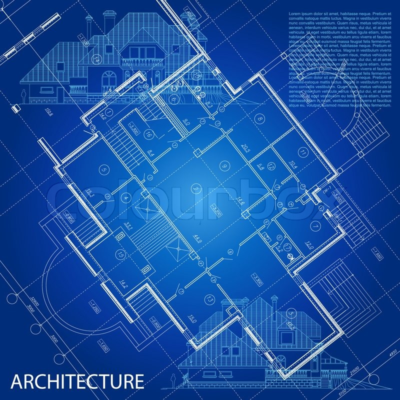 Superior Urban Blueprint (vector). Architectural Background. Part Of Architectural  Project, Architectural Plan, Technical Project, Drawing Technical Letters,  Design ...