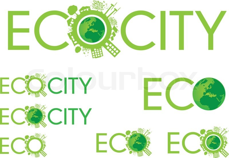 Stock vector of 'Eco City Logo Design - Ecology,Eco,Enviroment'