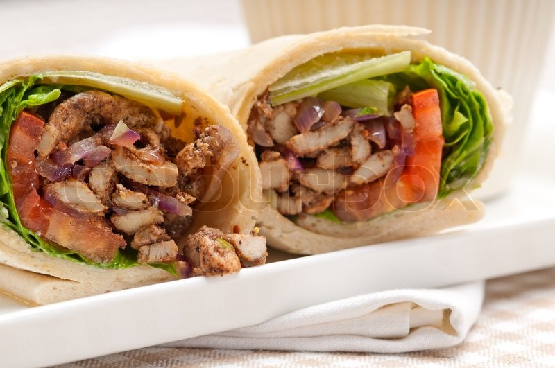 how to make chicken shawarma wrap
