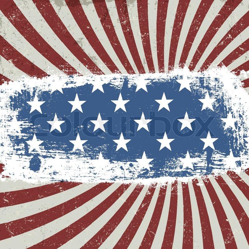 ... Amerikanischen patriotischen Hintergrund Vintage-Stil Vektor, EPS10