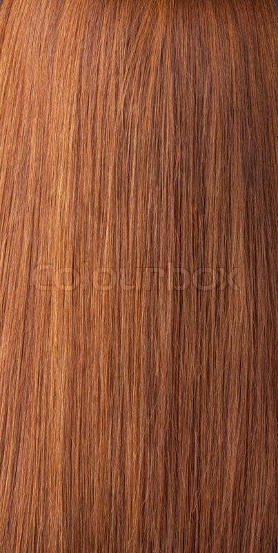 Beautiful Shiny Brunette Hair Texture Stock Photo