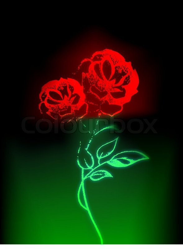 abstract rose stock vector colourbox